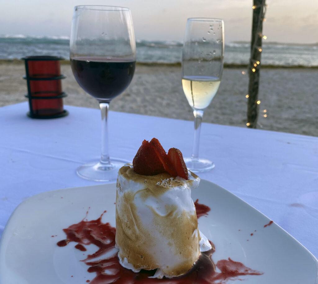 Dessert at an all-inclusive resort.