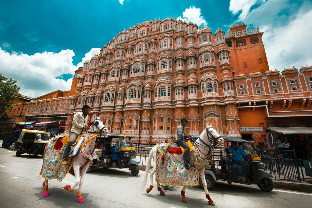 Jaipur, India. Hawa Mahal, Palace of Winds.