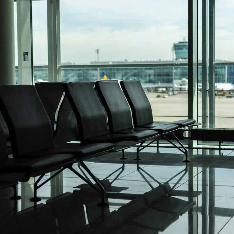 Seating at an airport.