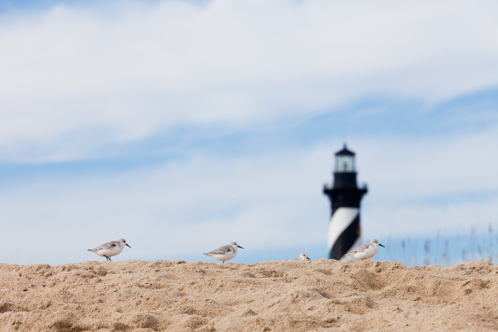 Lighthouse Beach, Buxton, Outer Banks, Caroline du Nord.