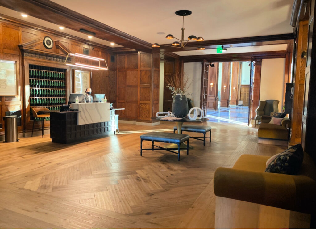 The lobby of Hotel Morgan.