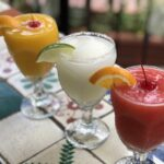 Three frozen margaritas.