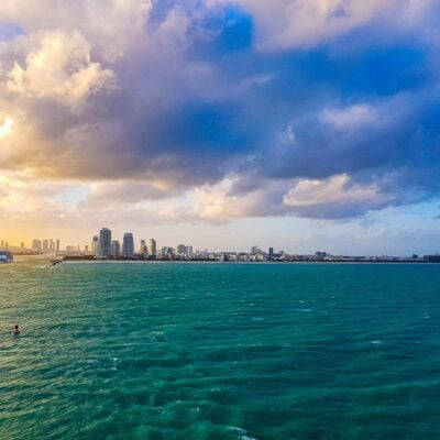 Miami view from ocean