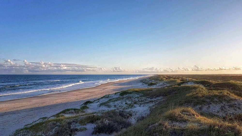 Ocracoke Lifeguarded Beach, Outer Banks, Caroline du Nord.