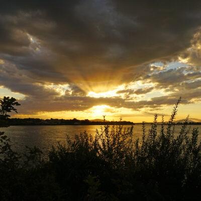 Sunset over Tri-Cities, Washington.