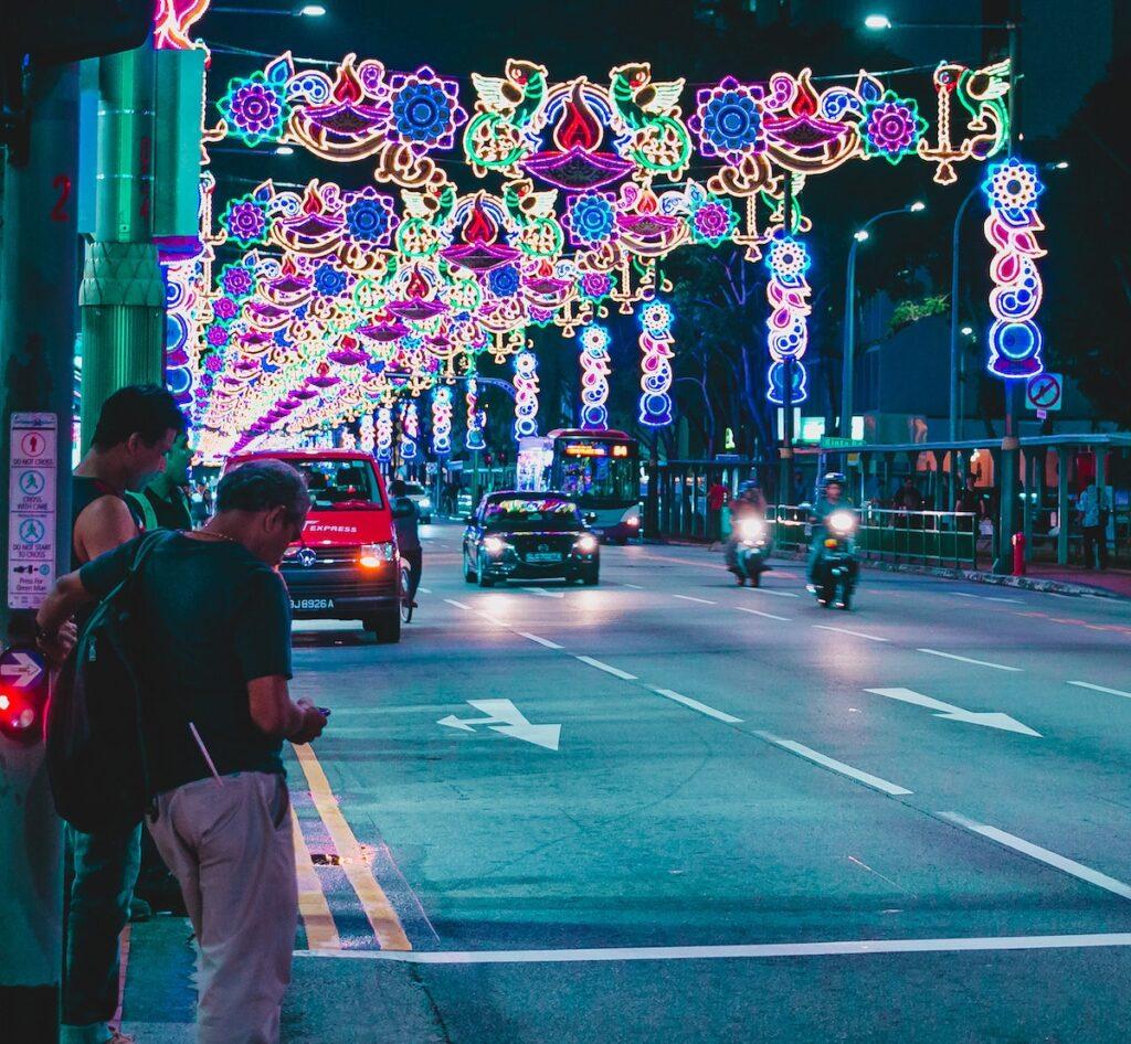 Little India lights, Singapore.