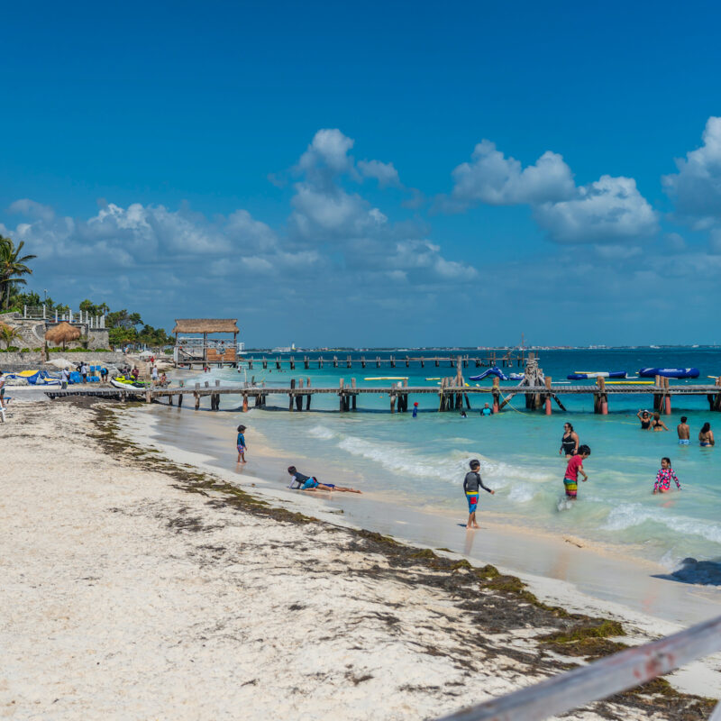 Playa Tortuga in Cancun, Mexico.