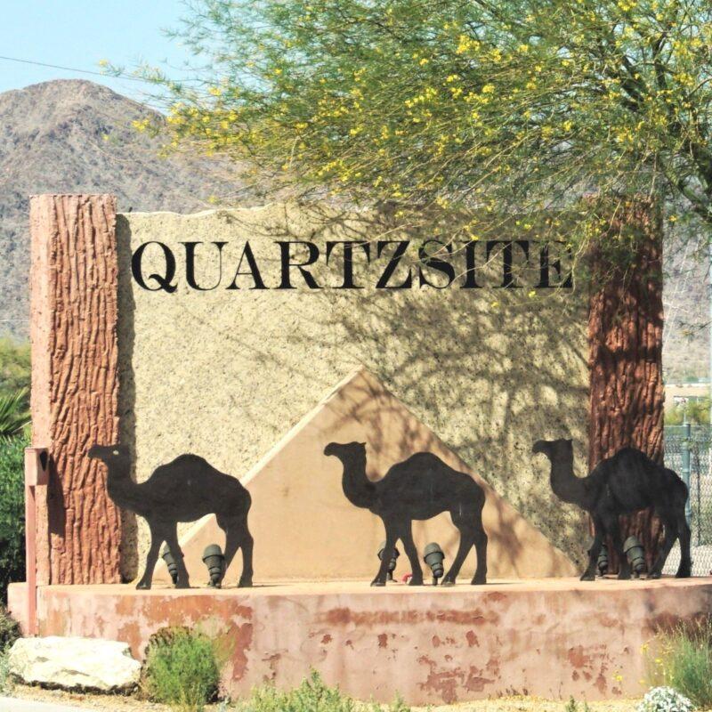 The sign for Quartzsite.