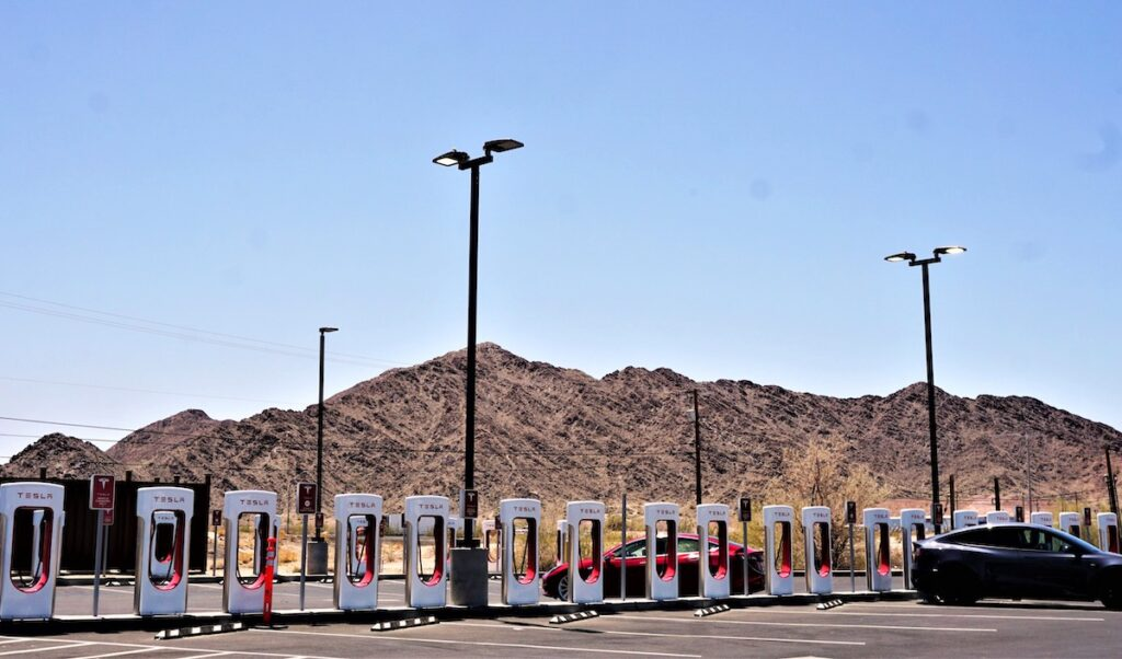 Stations de remplissage Tesla.