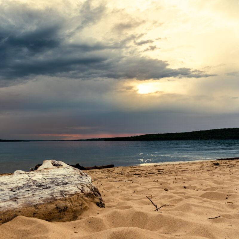 Sand Point Beach in Munising, Michigan.