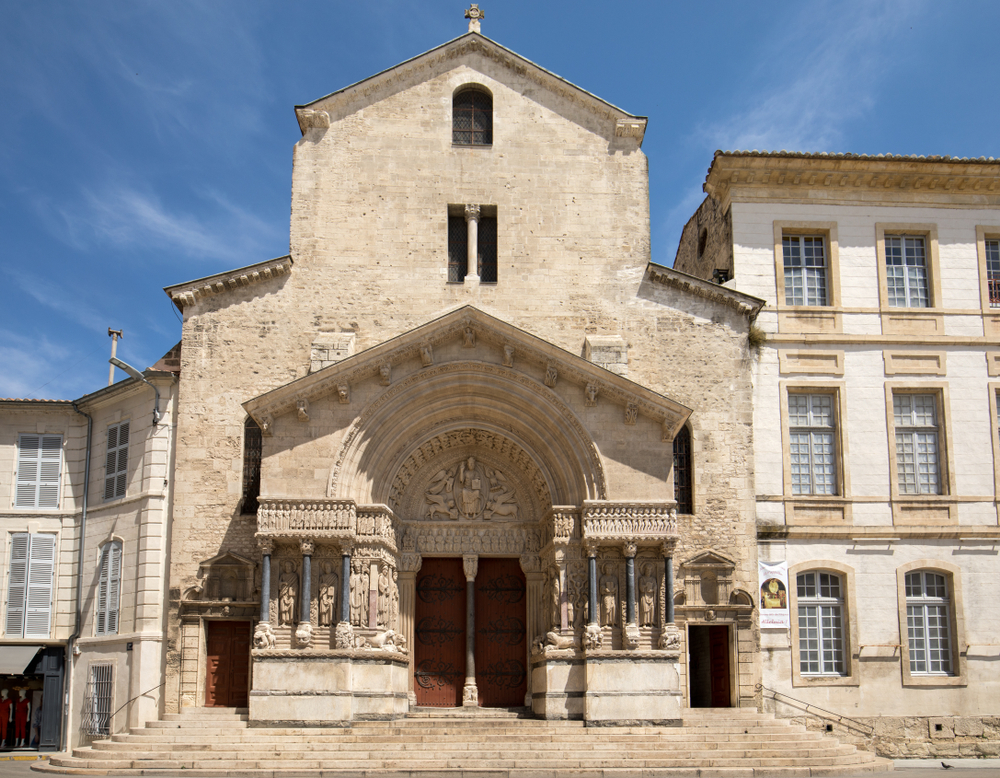 Saint Trophime Cathedral in Arles, France.