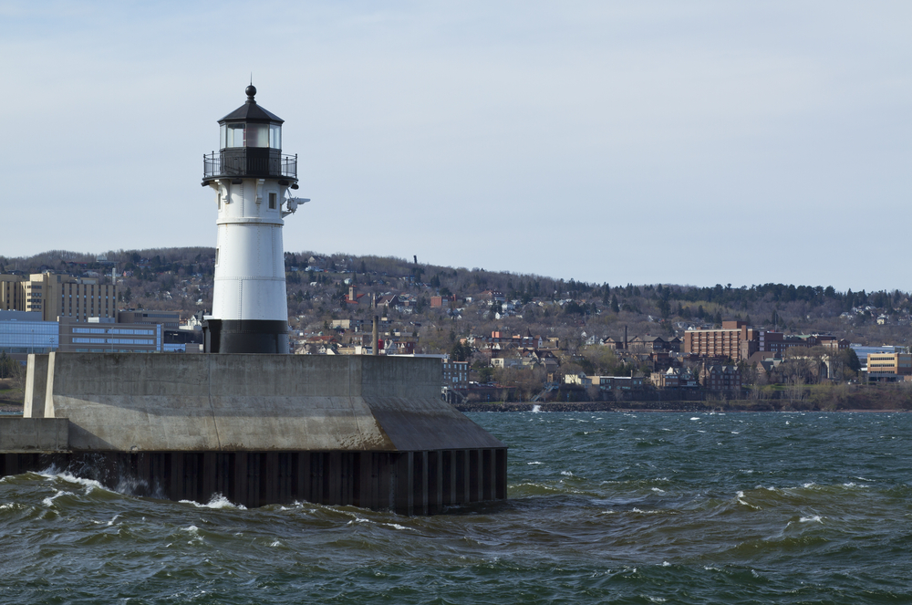 Duluth Harbor North Pierhead Lighthouse, Minnesota.