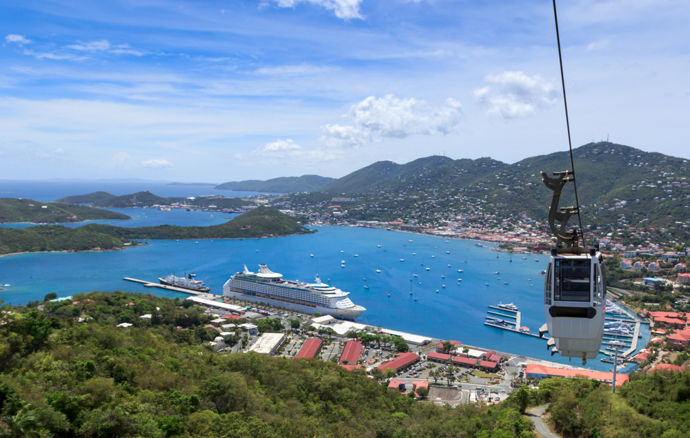 View at st. Thomas harbor from Paradise Point