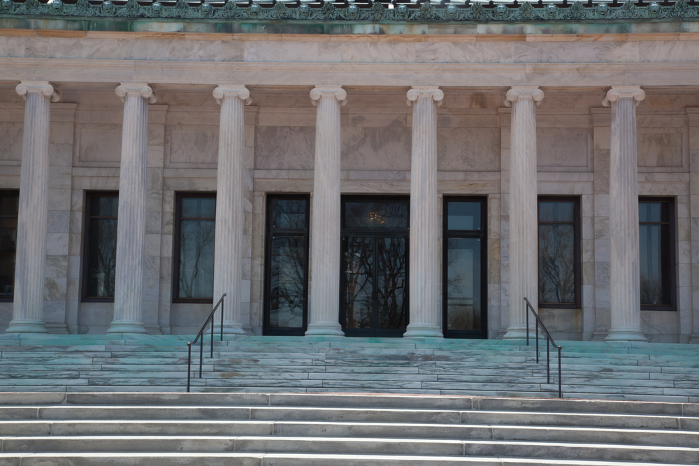 Columns and stairs to the Art Museum of Toledo, Ohio