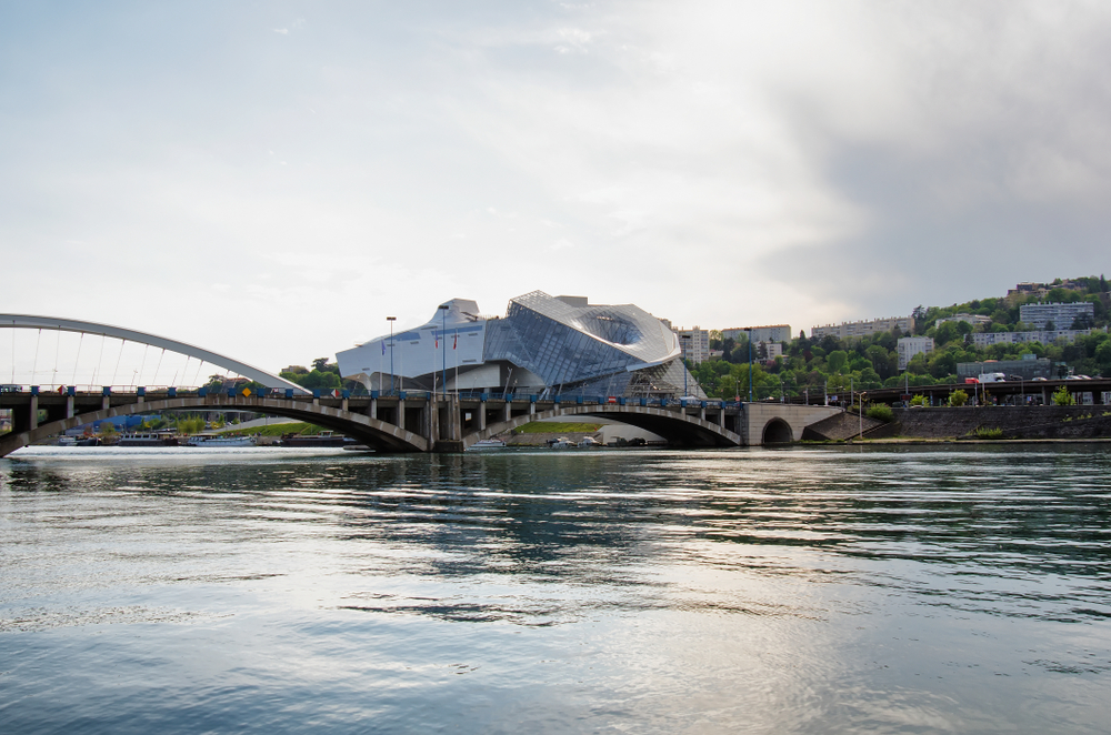 View of  Museum of modern art, Lyon, France
