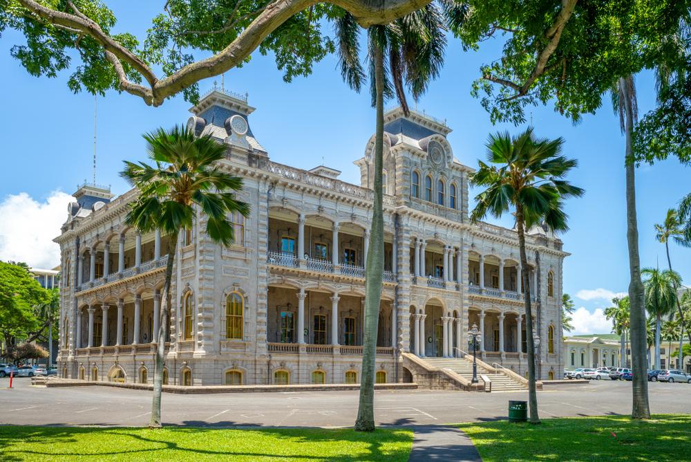 Iolani Palace in Honolulu, Hawaii.