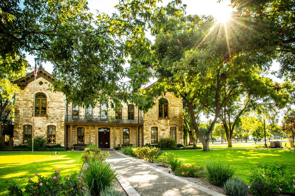 Pioneer Memorial Library in Fredericksburg, Texas.