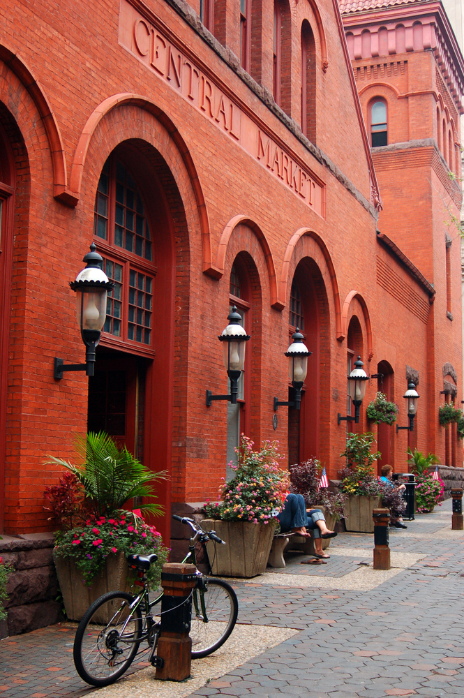 The historic Central Market in downtown Lancaster, Pennsylvania