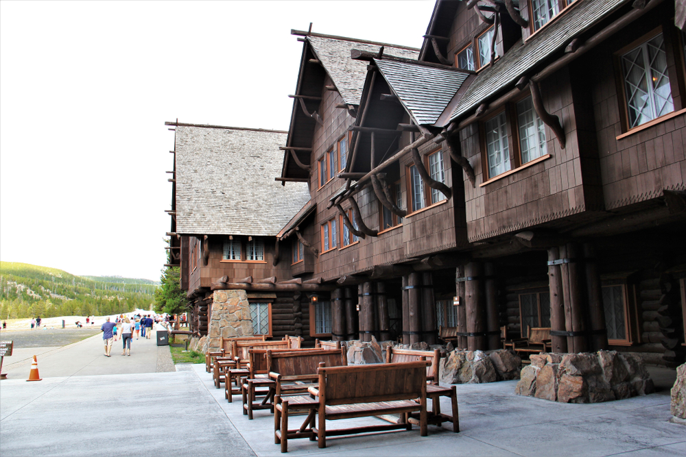 Old faithful inn Historic Building in Yellowstone national park