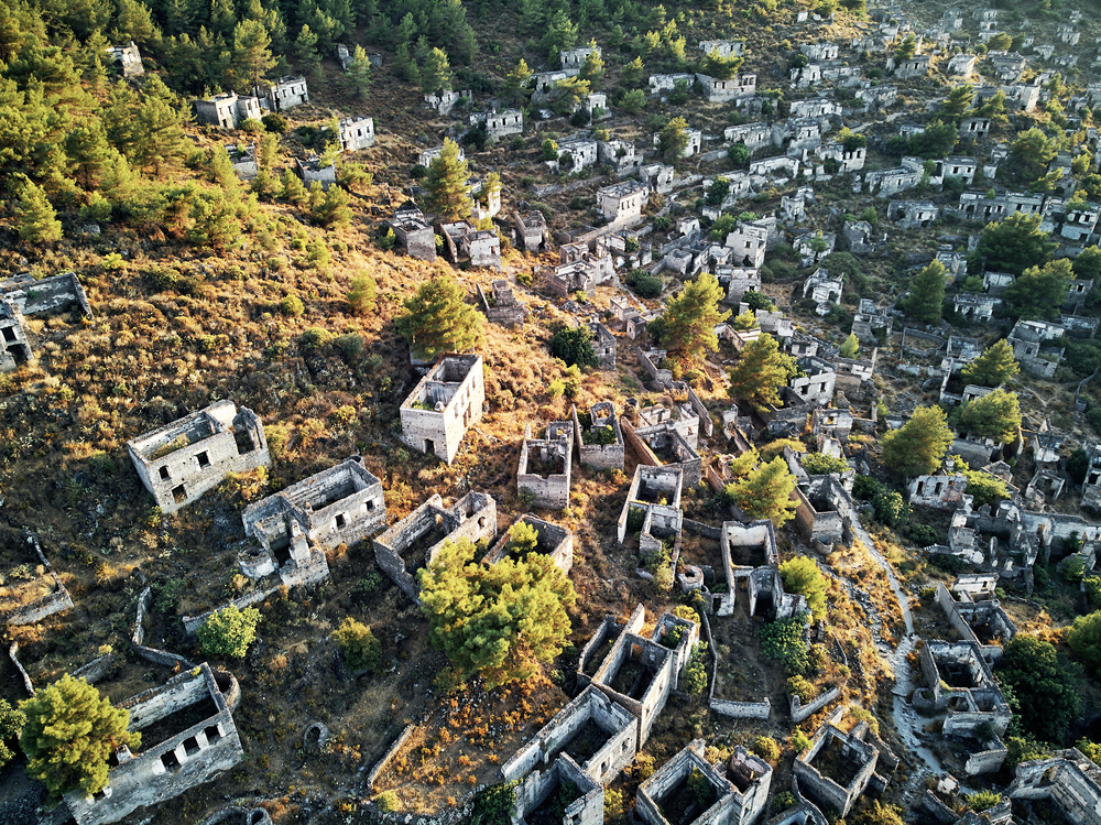 Historical Lycian village of Kayakoy, Mugla, Turkey.