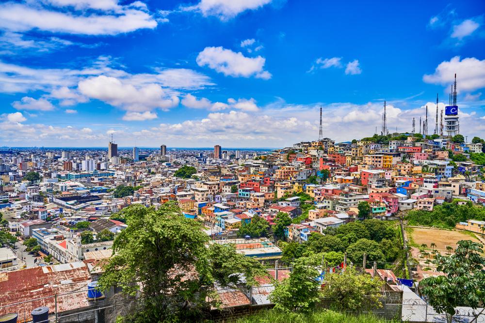 Skyline of Guayaquil. Ecuador.
