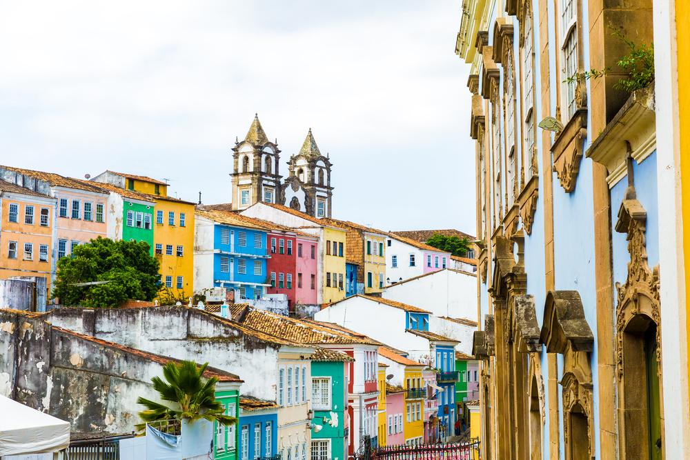 Pelourinho, the historic center of Salvador, Bahia, Brazil.
