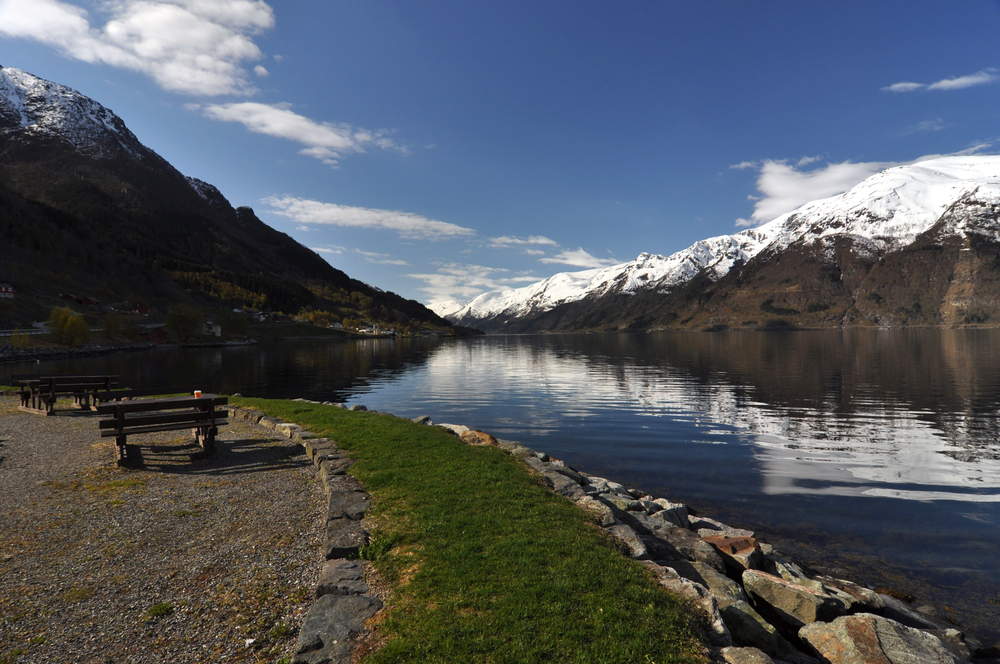 Hornindalsvatnet is Norway, the deepest lake in Europe.