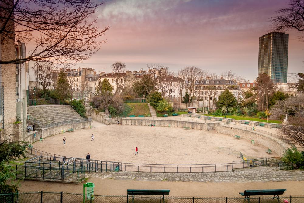 Arenes de Lutece in Paris, France.