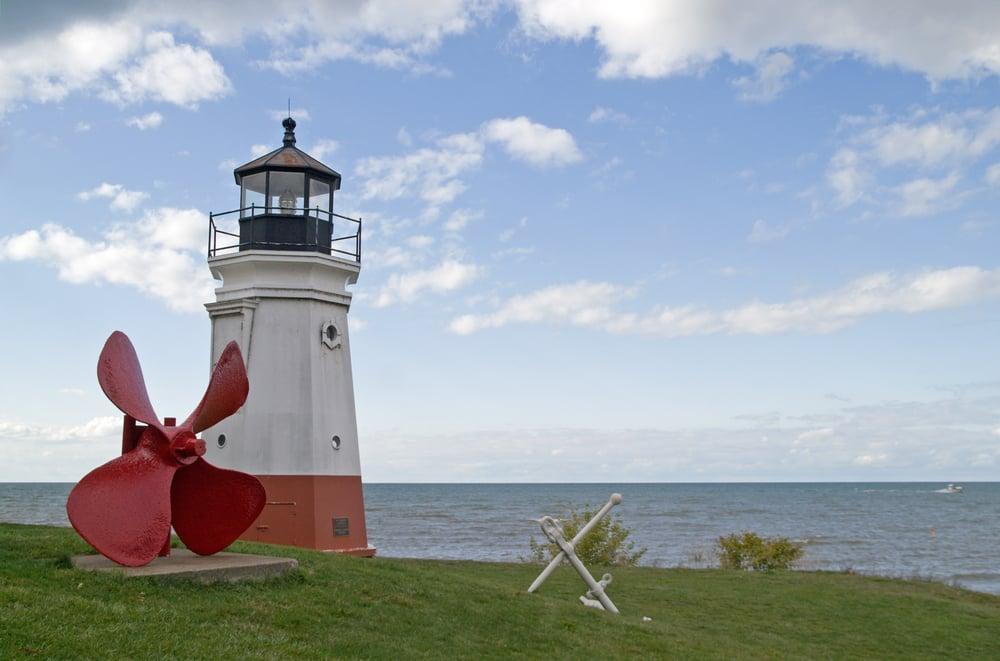 Vermilion Lighthouse, Lake Erie, Ohio, USA.