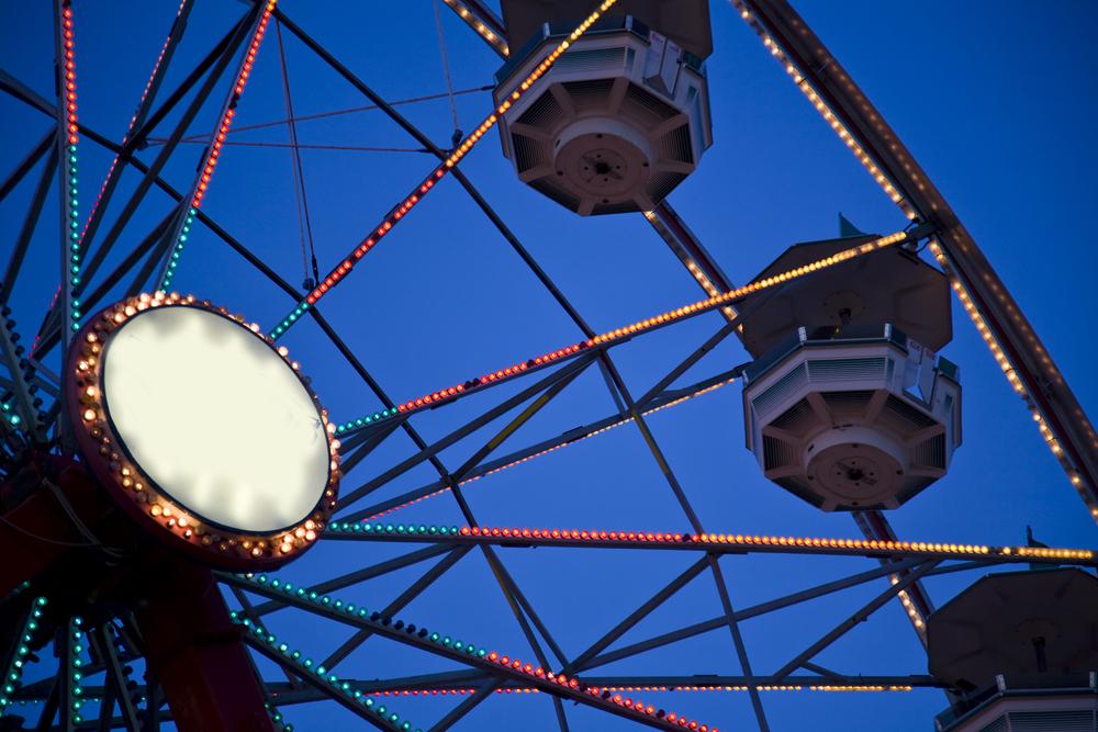 Ferris wheel detail at the Ohio State Fair