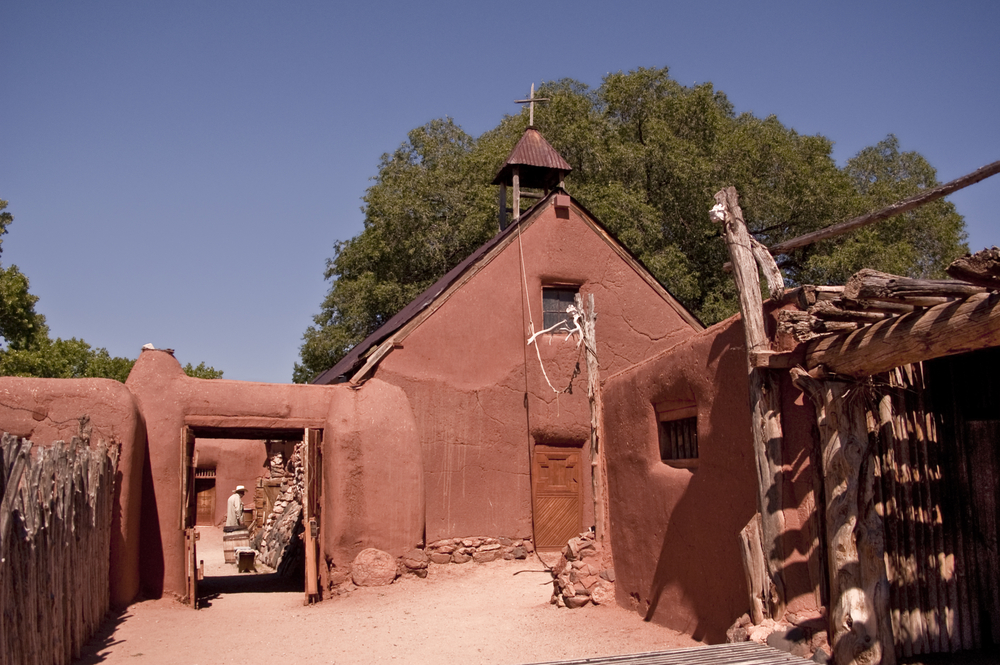 Historic New Mexican Colonial Village- Rancho de Golondrinas,a living history museum in Santa Fe, New Mexico