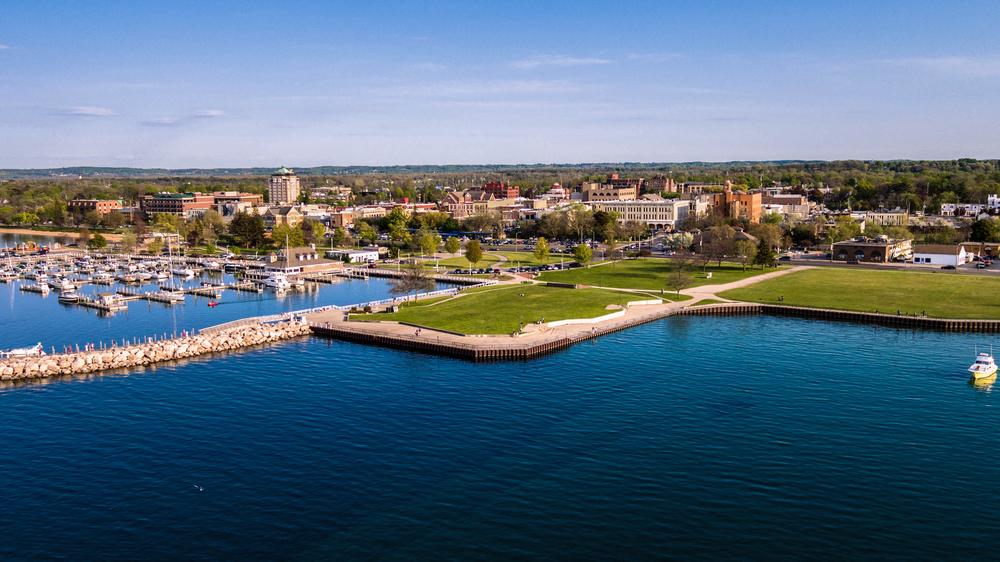Traverse City a waterfront town.