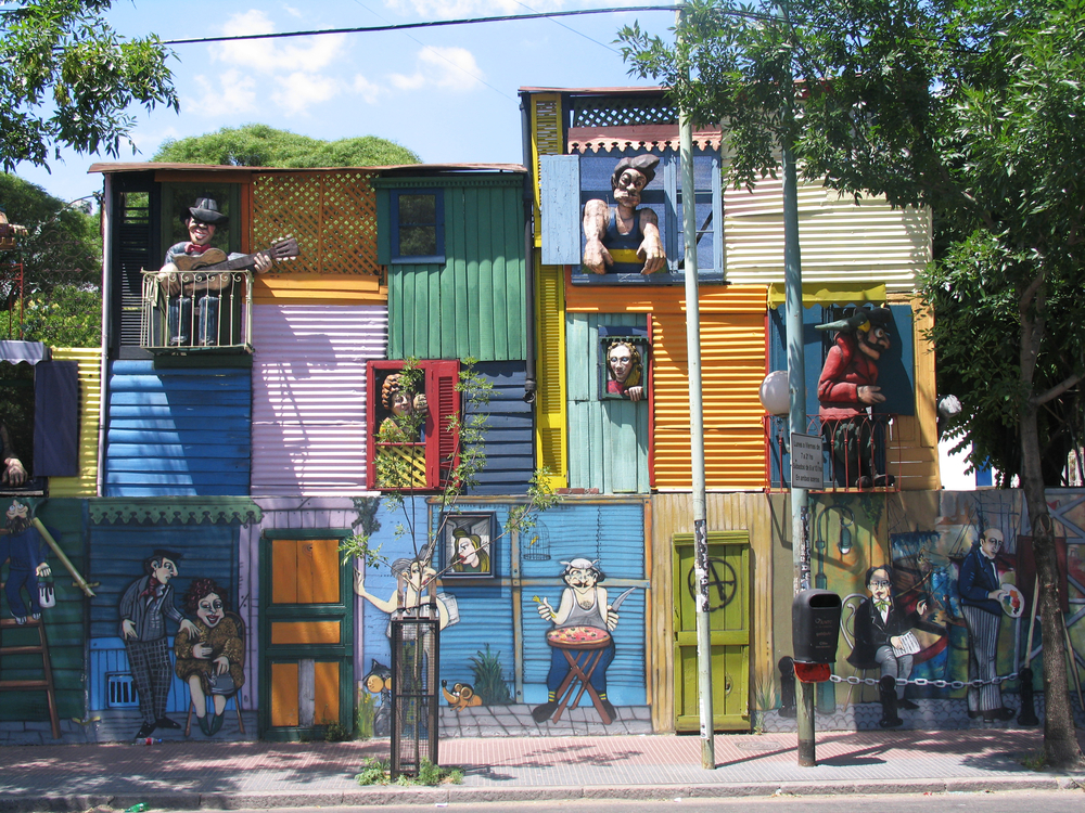 Typical houses in La Boca, Buenos Aires.