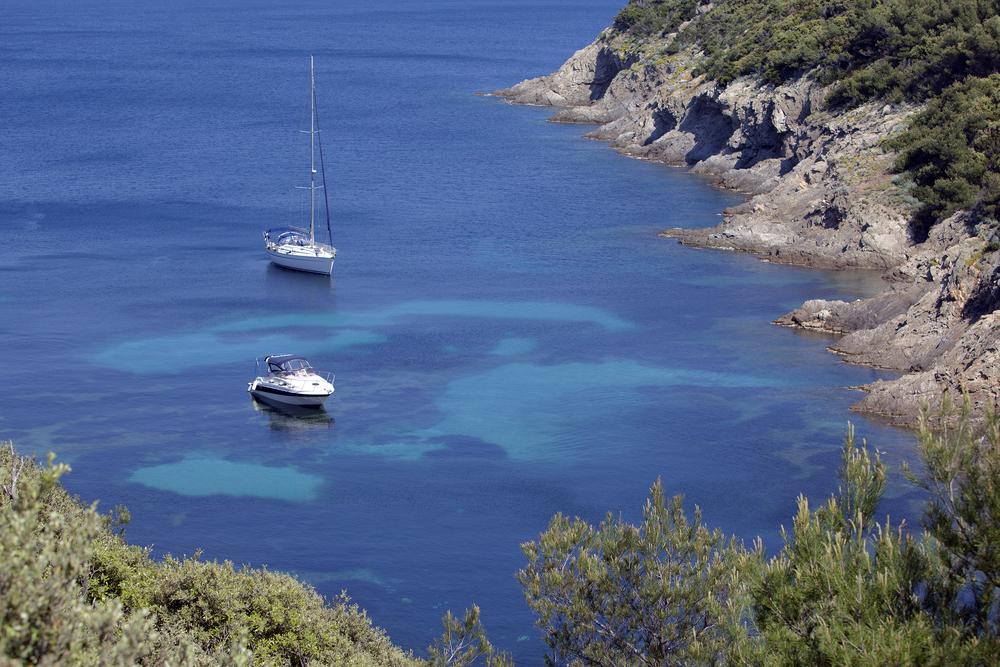 Boats, Port Cros National Park, France.