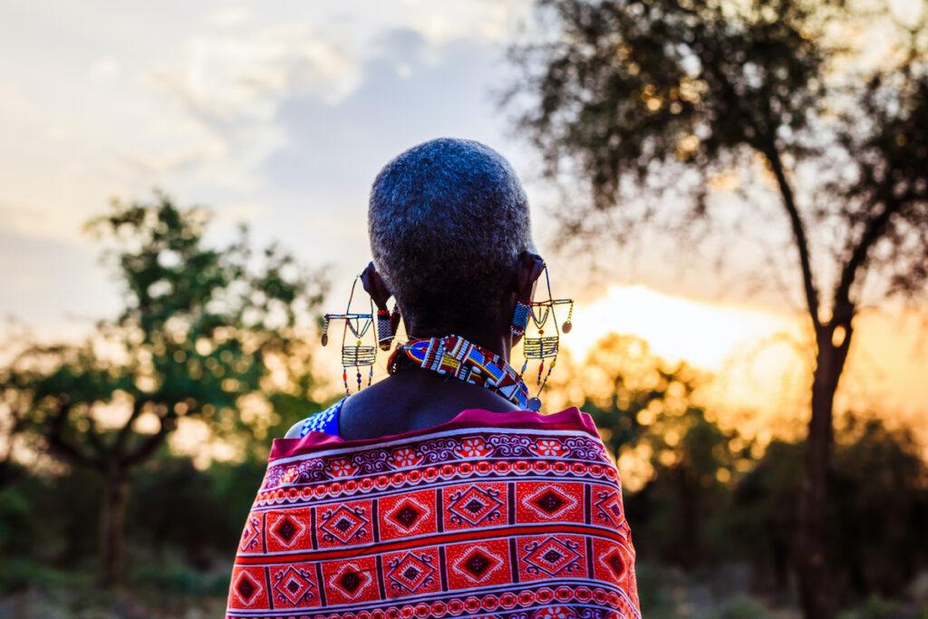 A Maasai woman.