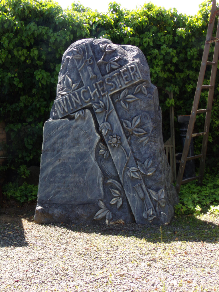 Winchester Mystery House - Engraved Stone.