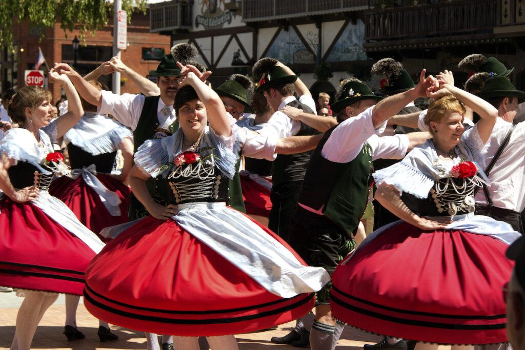A festival in Leavenworth, WA.