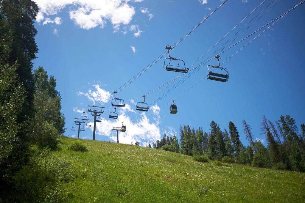 Vail, Colorado in summer gondola ride.