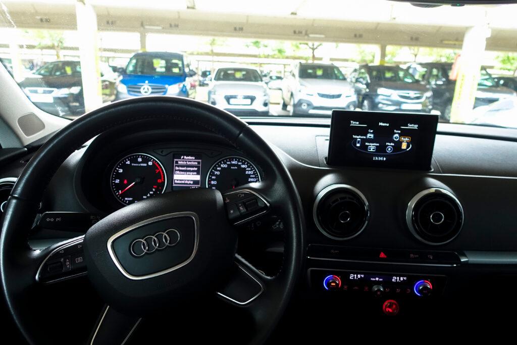 Audi A3 interior design.
