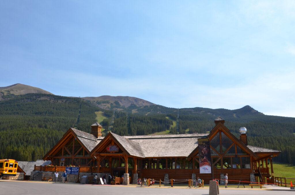 Summer Gondola at the Lake Louise Ski Resort.