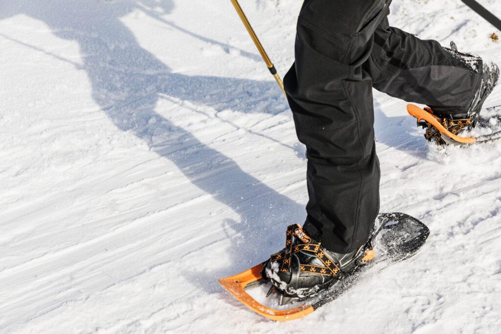 Snowshoeing.