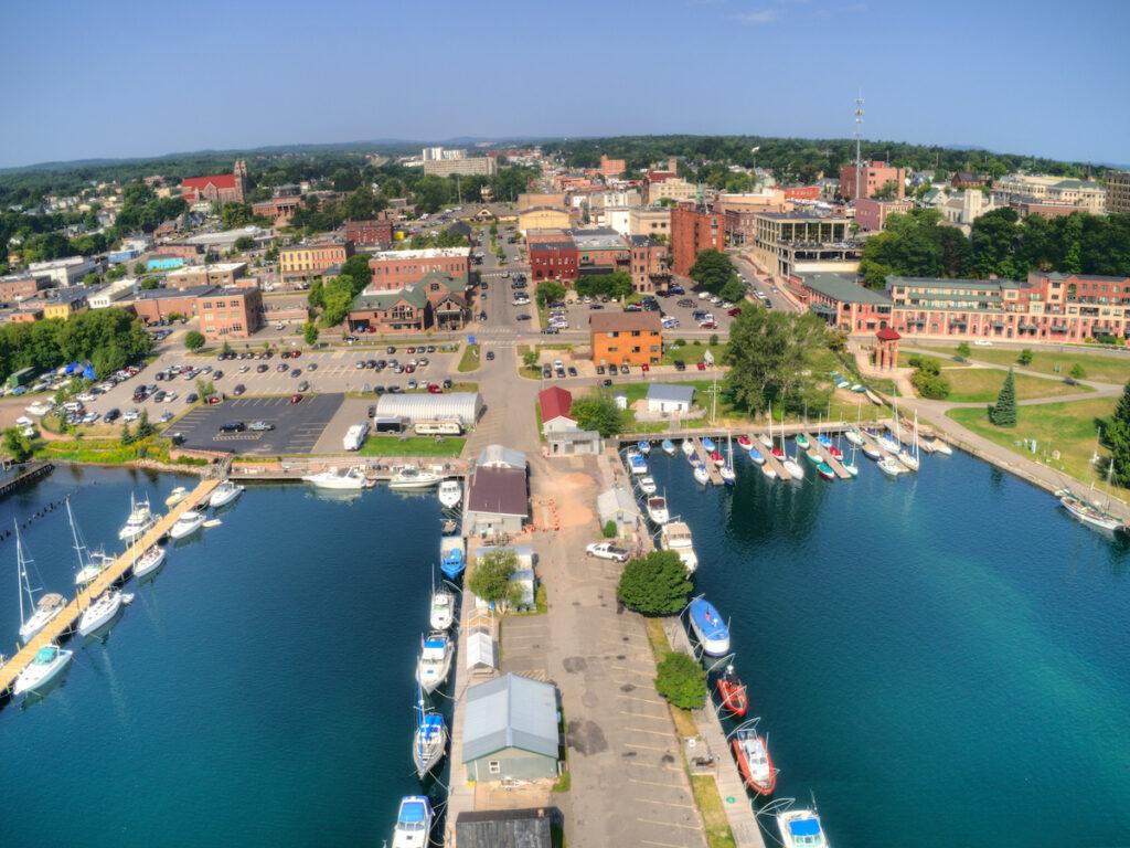 Harbor in Marquette, Michigan.