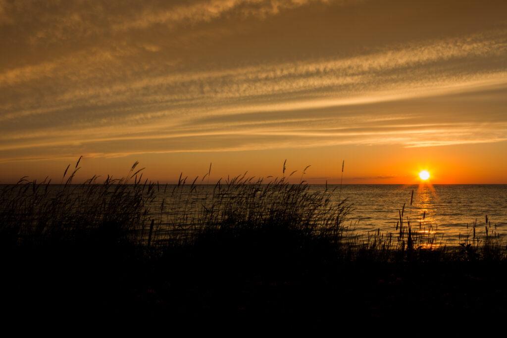 Sunset viewed from Washington Island Wisconsin.