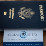 Passport and Global Entry card.