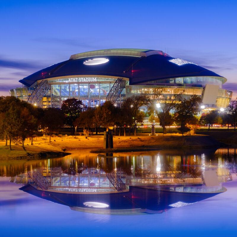 AT&T Stadium in Arlington, TX.