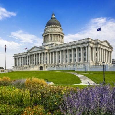 Utah's state capitol building.