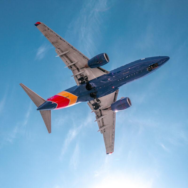 A Southwest flight.