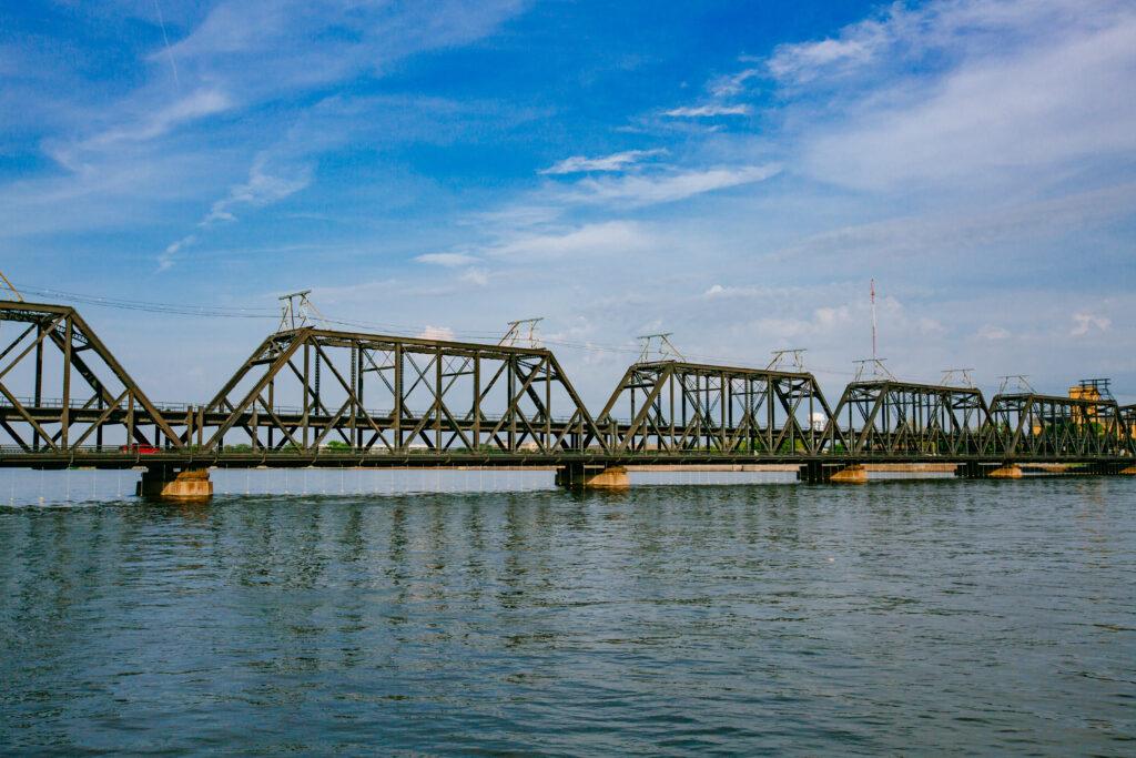 View of Government Bridge in Davenport, Iowa, USA