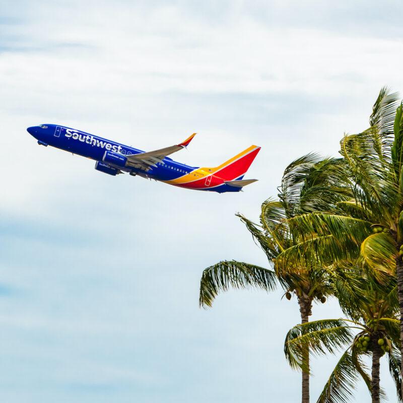 Southwest plane in Honolulu, Hawaii.