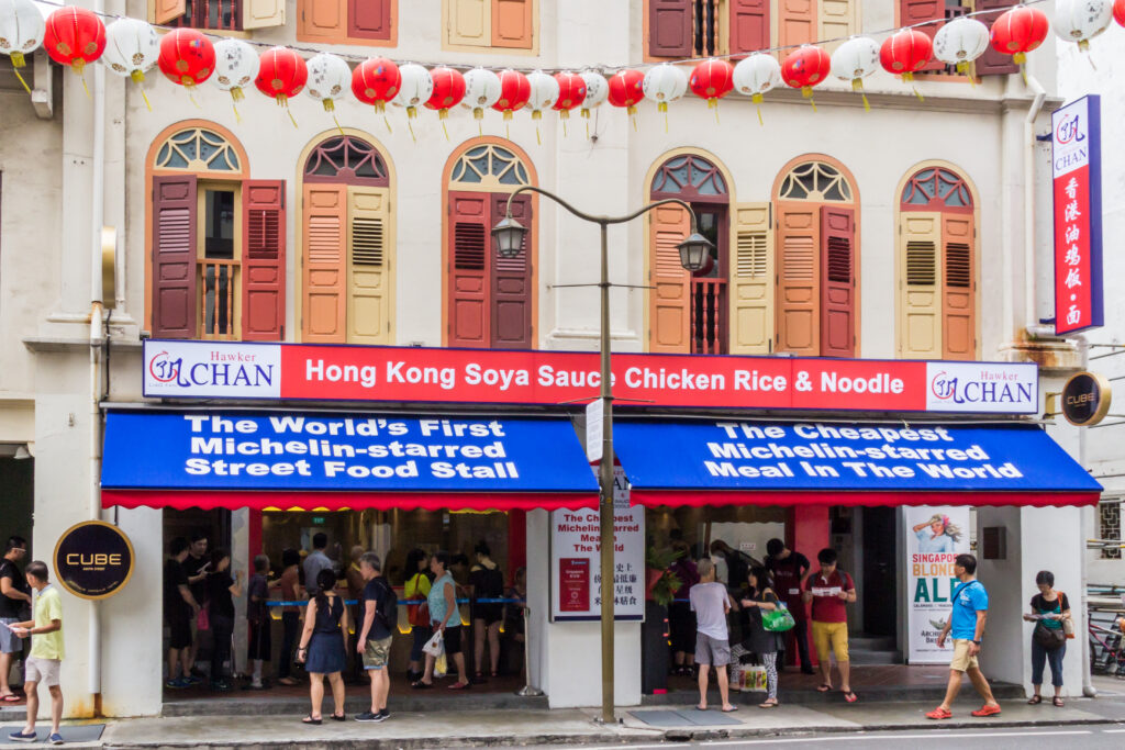 Hawker Chan one star Michelin restaurant in Singapore.
